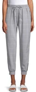 Plaid Cropped Jogger Pants