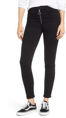 SP Black Zipper Skinny Jeans