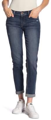 SP Black Rolled Boyfriend Jeans