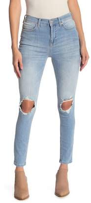 Free People Distressed Knee Skinny Jeans