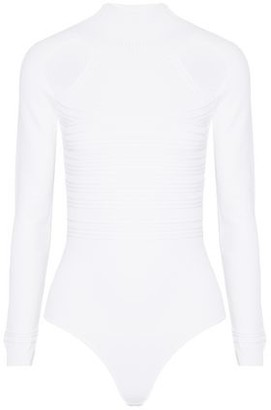Cushnie et Ochs Cold-Shoulder Crochet-Knit Bodysuit