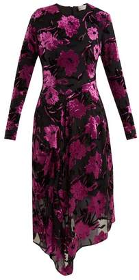 Preen by Thornton Bregazzi Alyssa Floral Devore Midi Dress - Womens - Black Purple