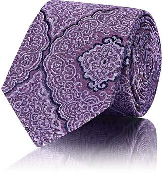 Barneys New York Men's Baroque-Pattern Silk Jacquard Necktie