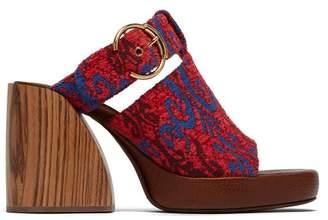 6d10e5cc693e Chloé Tapestry Platform Sandals - Womens - Red Multi