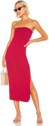 Enza Costa Jersey Side Slit Dress