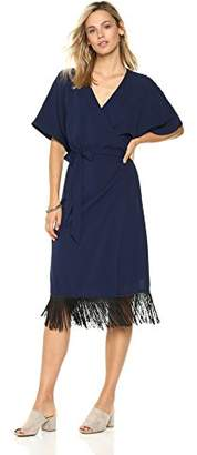Ella Moon Women's Jaya Kimono Sleeve Wrap Dress