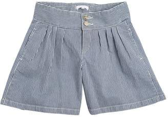 Chloé Striped Stretch Denim Shorts