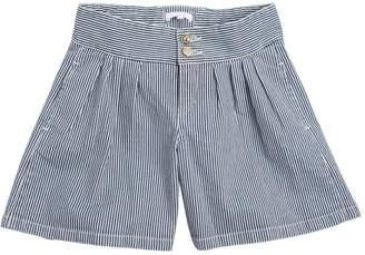 Chloé Striped Stretch Denim Shorts