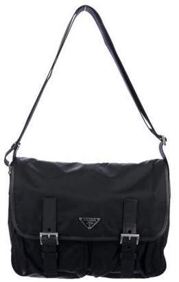 Prada Tessuto Messenger Crossbody Bag