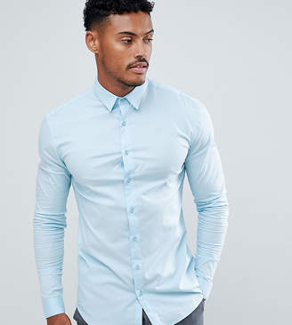 SikSilk long sleeve in light blue exclusive to ASOS