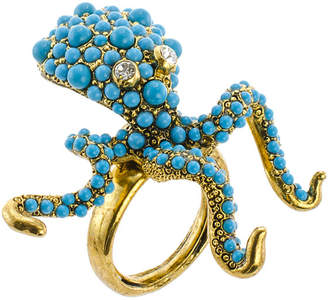 Kenneth Jay Lane KJL BY KJL by Simulated Turquoise Octopus Ring