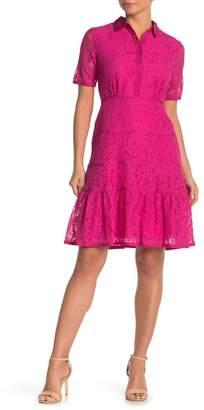 Nanette Lepore NANETTE Short Sleeve Lace Dress
