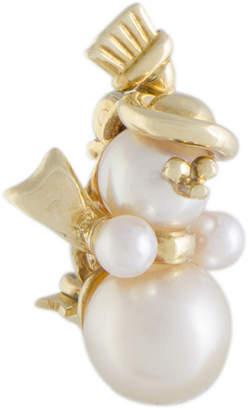 Van Cleef & Arpels Heritage  18K Pearl Snowman Brooch