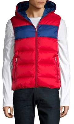 Michael Kors Striped Puffer Vest