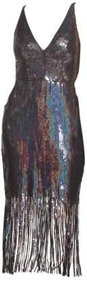 Dress the Population Frankie Sequin Fringe Sheath Dress