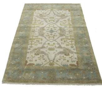"""Charlton Home One-of-a-Kind Schurman Indian Hand-Knotted 5'10"""" x 8'10"""" Wool Beige/Green Area Rug Charlton Home"""