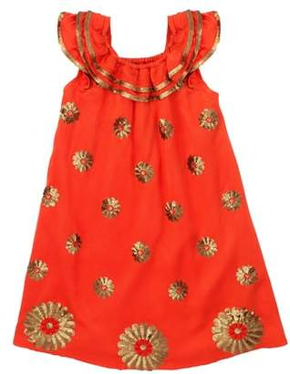 Masala Baby Dahlia Flutter Sleeve Dress