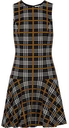 Alice + Olivia Fonda Checked Jacquard Mini Dress
