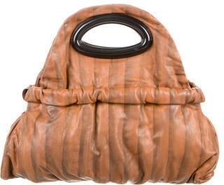 MarniMarni Leather Drawstring Satchel