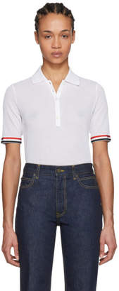 Thom Browne White Relaxed-Fit Polo