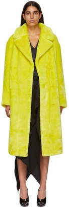 Tibi Yellow Oversized Trench Coat