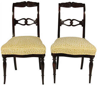 One Kings Lane Vintage Swedish Side Chairs - Set of 2 - The Barn at 17 Antiques