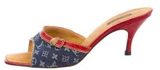 Louis Vuitton Monogram Denim Sandals