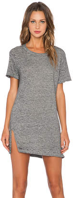 Monrow Vintage Burn Out Oversized Tee Shirt Dress