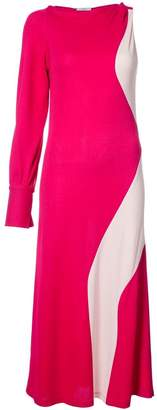 Tome colour block one-sleeve dress