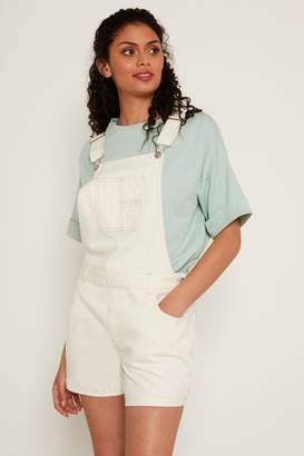 F&F Womens Ecru Dungaree Shorts - Blue