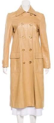Gucci Leather Long Coat