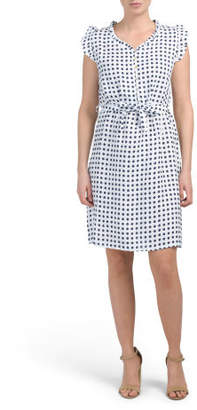 b38a0307e62 Navy Dress With White Trim - ShopStyle