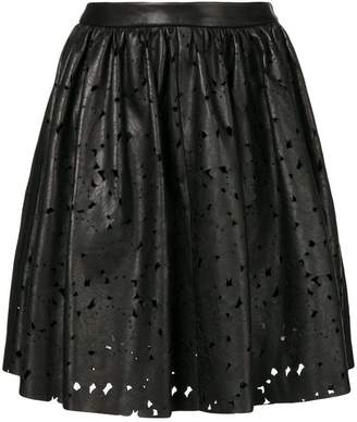 Drome distressed flared skirt