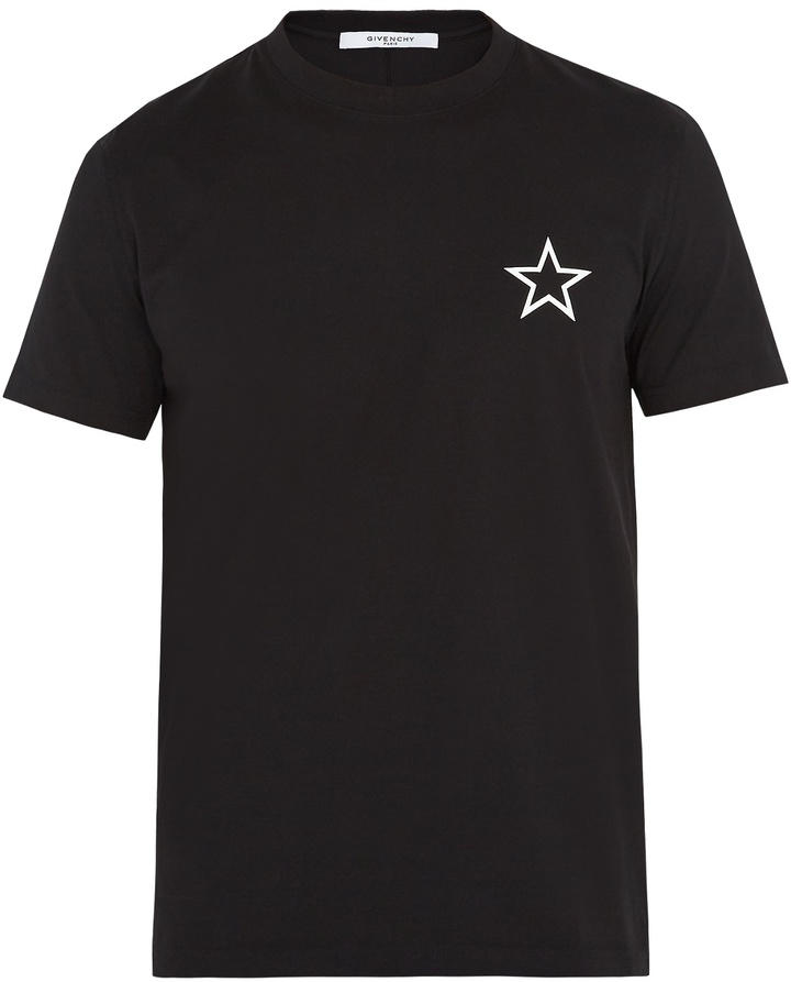 GIVENCHY Cuban-fit star-print cotton T-shirt