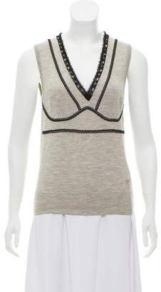 Dolce & Gabbana Embellished Cashmere Top