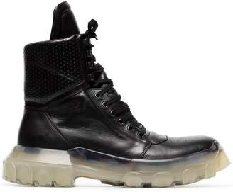 Rick Owens 'Tractor Dunk' Stacked Heel Boots