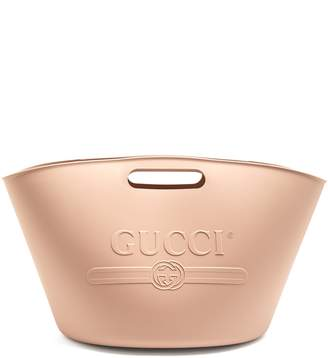 Gucci Oversized logo-embossed rubber bag