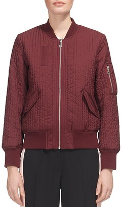Whistles Quilted Bomber Jacket $270 thestylecure.com