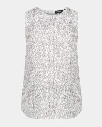 Theory Wave Print Sleeveless Top