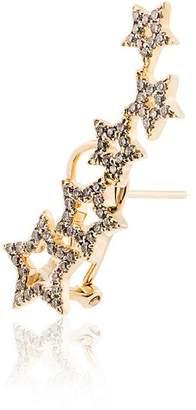 Rosa De La Cruz 18k yellow gold diamond star earring