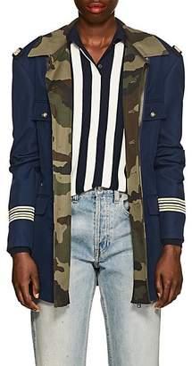Faith Connexion Women's Gabardine & Twill Military Jacket - Navy