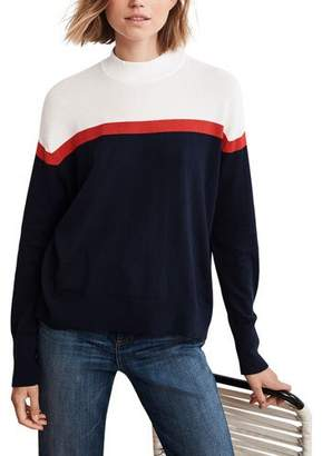 Velvet Coretta Cotton-Cashmere Mock-Neck Sweater