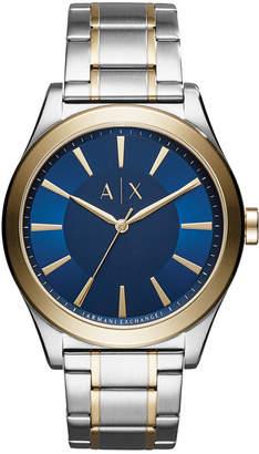 Armani Exchange Men's Nico Two-Tone Stainless Steel Bracelet Watch 44mm