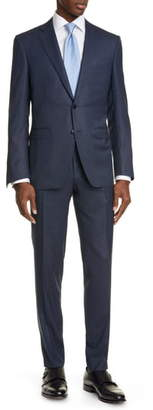 Canali Milano Trim Fit Solid Wool Suit