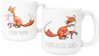 Cathy's Concepts Mom & Dad Fox Set of 2 Coffee Mugs