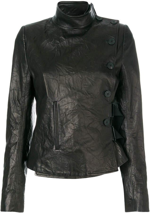 creased bomber jacket