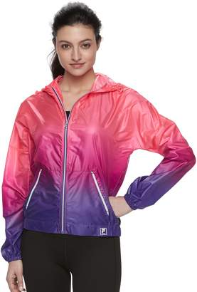 Fila Sport Women's SPORT Ombre Hooded Woven Windbreaker Jacket