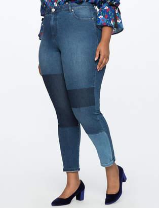 ELOQUII Shadow Patch Skinny Jean