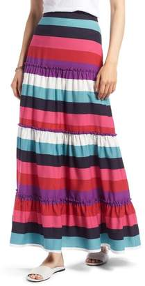 1901 Tiered Stripe Maxi Skirt (Regular & Petite)