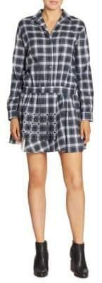No.21 Studded Plaid Shirtdress